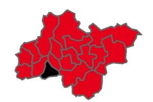 Die Wahlkreise im Ruhrgebiet